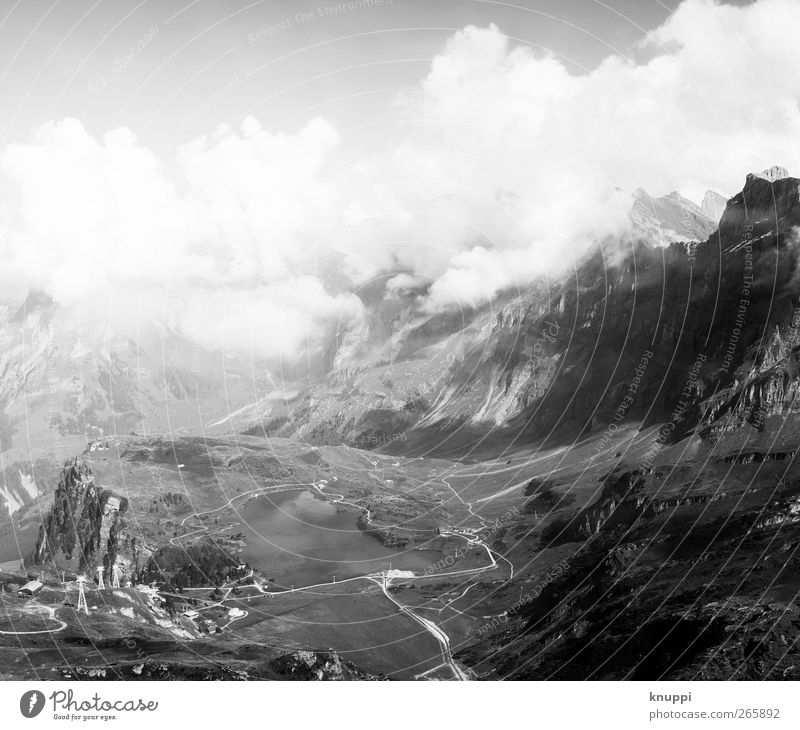 Heidiland Himmel Natur weiß Sommer Wolken schwarz Umwelt Landschaft Berge u. Gebirge grau Luft wild wandern Alpen Schönes Wetter Unendlichkeit