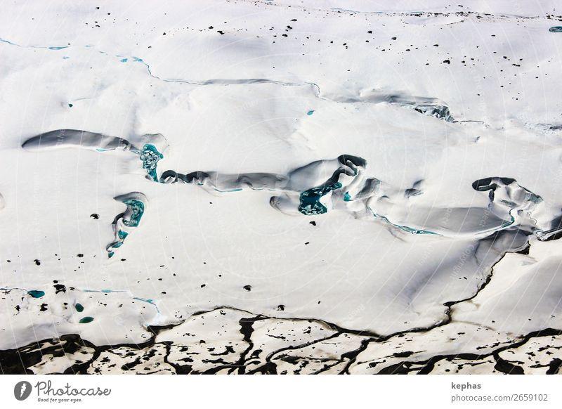 Farben im Gletscher Natur blau grün weiß Landschaft Berge u. Gebirge kalt Eis ästhetisch Coolness Klima Alpen Urelemente Frost türkis
