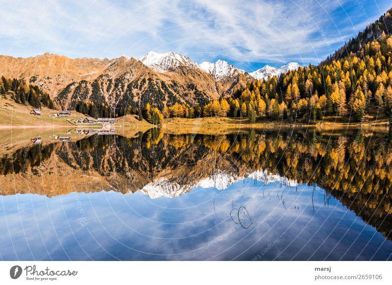 Duisitzkarsee im Herbst Natur Ferien & Urlaub & Reisen Erholung ruhig Berge u. Gebirge Tourismus See Ausflug wandern leuchten Schönes Wetter Alpen