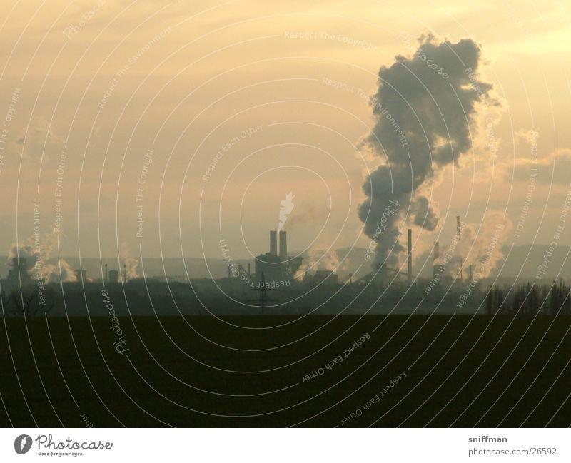 Hüttendämmerung Industrie Zoomeffekt Stahlwerk