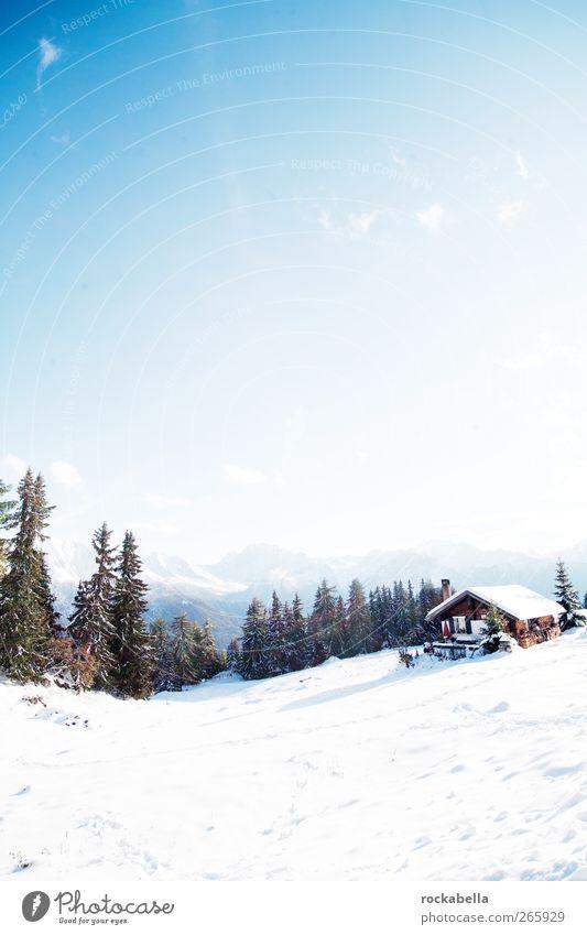 Switzerland | Schweiz | Suisse | Svizzera. Natur Winter Umwelt Landschaft kalt Schnee Berge u. Gebirge Alpen Hütte