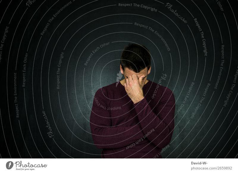 nachdenklich Lifestyle elegant Stil Sinnesorgane Meditation Bildung Studium lernen Student Mensch maskulin Junger Mann Jugendliche Erwachsene Leben Kopf Gesicht
