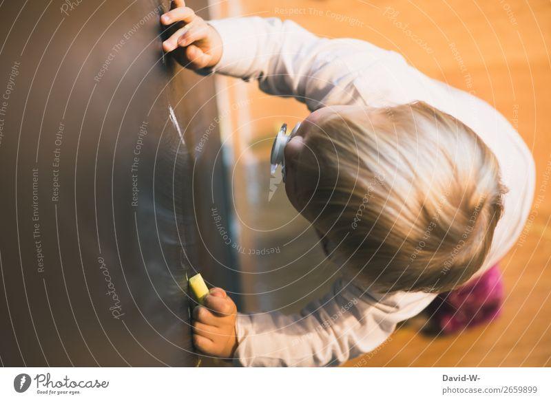 im Kinderzimmer VI elegant Stil Freude Kindererziehung Bildung Kindergarten lernen Mensch feminin Kleinkind Mädchen Kindheit Leben Kopf Gesicht Arme Hand Finger