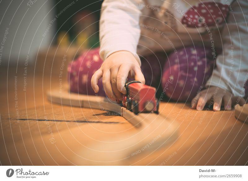 im Kinderzimmer II Lifestyle harmonisch Wohlgefühl Zufriedenheit ruhig Spielen Wohnung Kindererziehung Mensch feminin Kleinkind Mädchen Kindheit Leben Hand