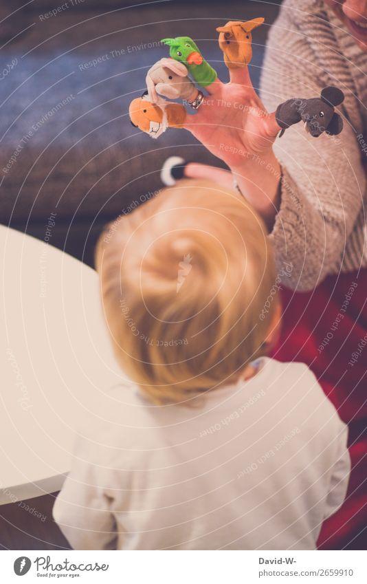 Fingerpuppen III Frau Kind Mensch Hand Tier Freude Mädchen Erwachsene Leben feminin Spielen Kopf Kindheit Fröhlichkeit lernen