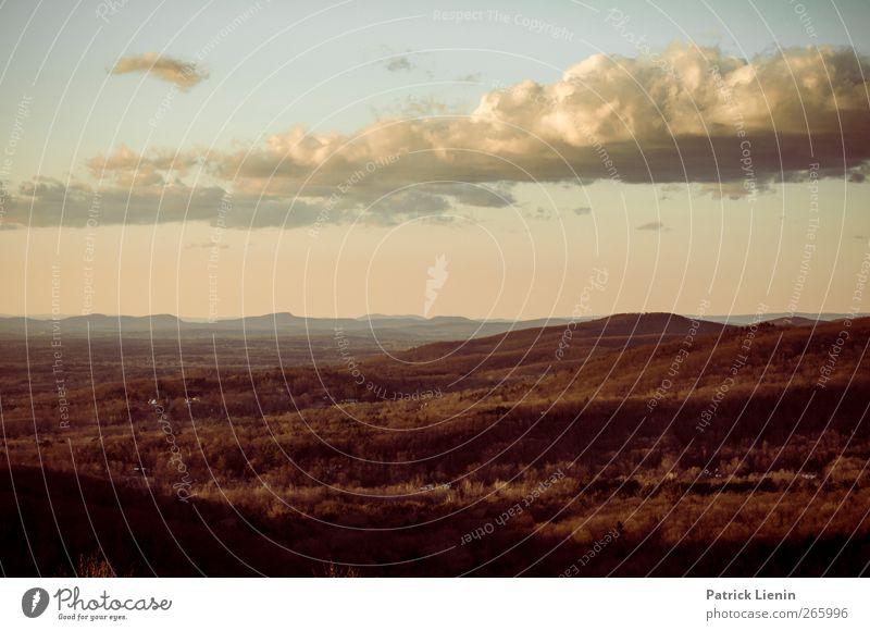 weiter weg Umwelt Natur Landschaft Urelemente Luft Himmel Wolken Wetter Wald Hügel Berge u. Gebirge Stimmung USA Ferne Sehnsucht Farbfoto mehrfarbig