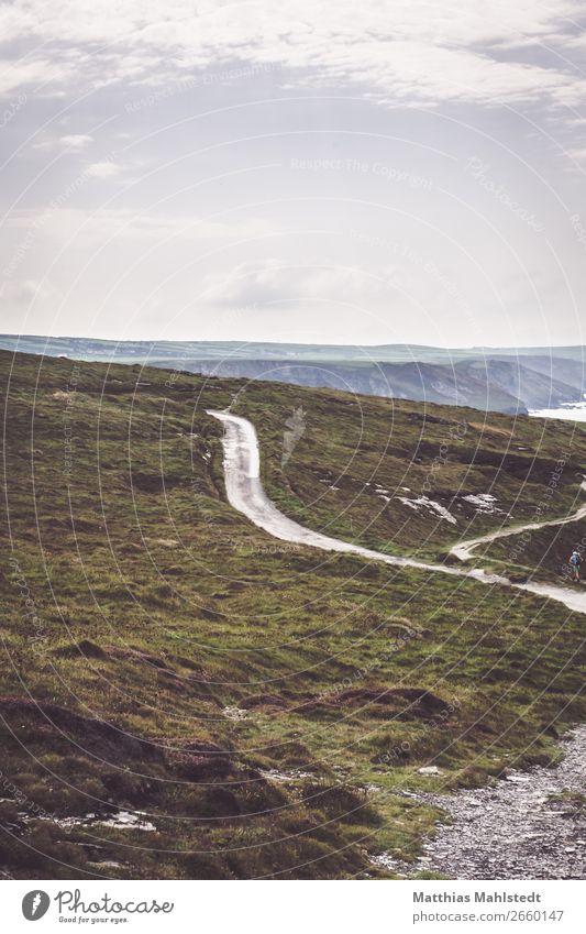 Straße bei Tintagel in England Ferien & Urlaub & Reisen Tourismus Ausflug Abenteuer Ferne Freiheit Sommer Sommerurlaub Meer Umwelt Natur Landschaft