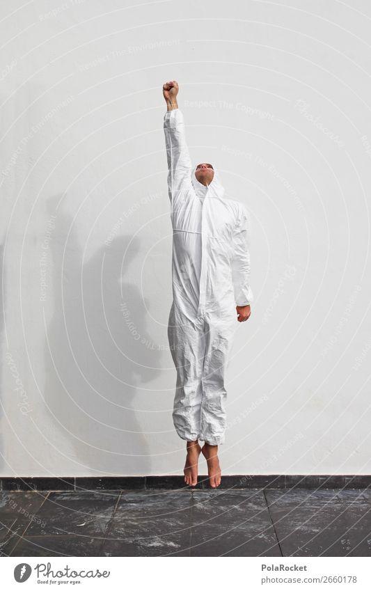 #AS# TO THE MOON! Mensch Kunst fliegen Design Kraft Kreativität Beginn Zukunft Futurismus Beruf Kitsch Flugzeugstart Abheben Karriere Leichtigkeit dumm