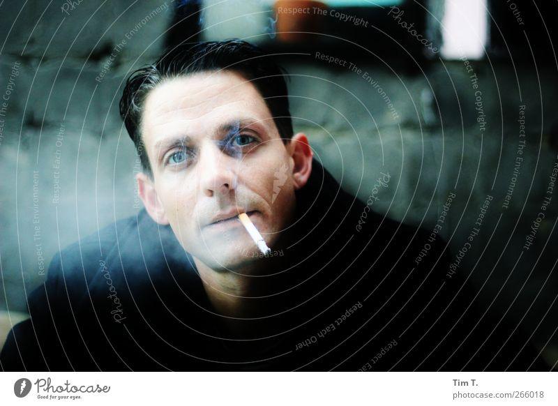 was ? Mensch maskulin Mann Erwachsene Kopf Gesicht Auge Mund 1 30-45 Jahre Zufriedenheit Farbfoto Innenaufnahme Tag Licht Blick in die Kamera