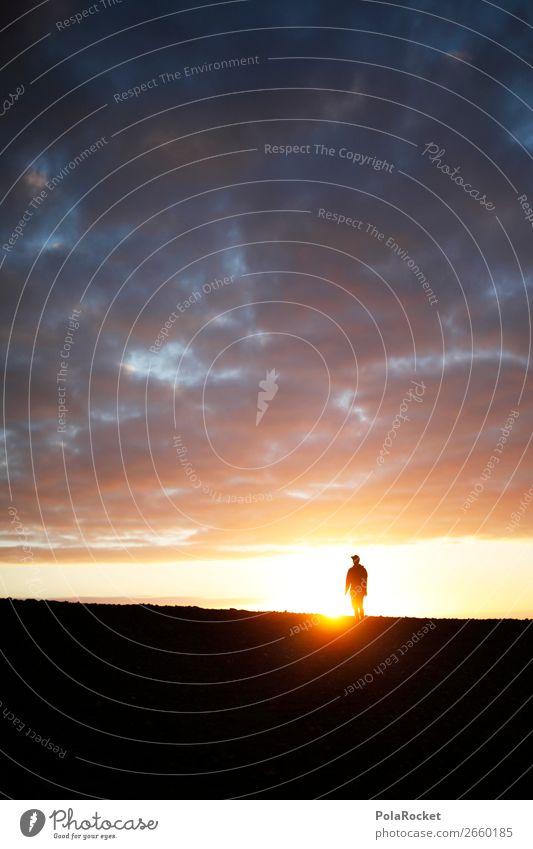 #AS# LightWalker Natur ästhetisch wandern Silhouette Jugendliche Sonne Außenaufnahme Sonnenstrahlen Zukunft Mensch gehen Licht Perspektive Futurismus