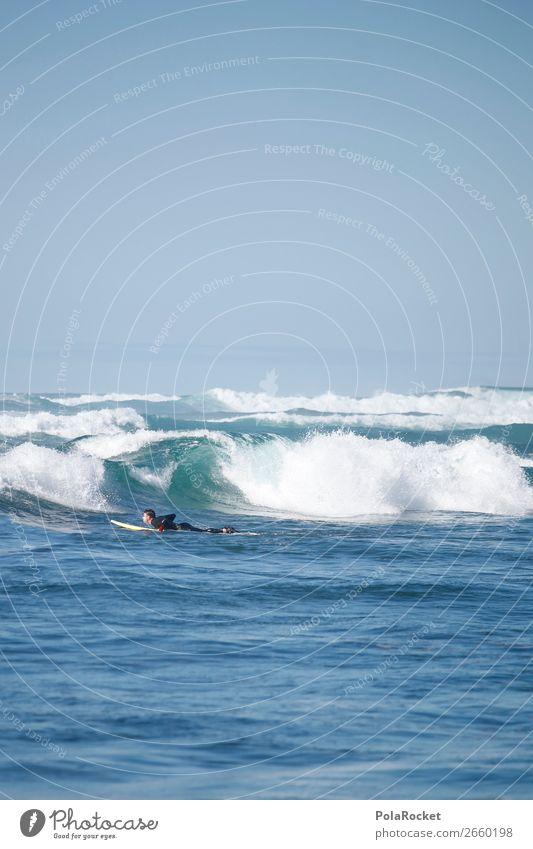 #AS# in den Wellen Natur Mann blau Meer Sport ästhetisch sportlich Surfen Wassersport Surfer Surfbrett Meerwasser Wellenform Extremsport Wellenlinie