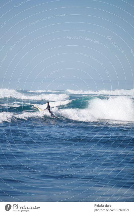 #AS# WellenMann 1 Mensch ästhetisch Surfen Surfer Surfbrett Surfschule Wellengang Wellenform Wellenlinie Wassersport Extremsport Sport sportlich Meer Farbfoto
