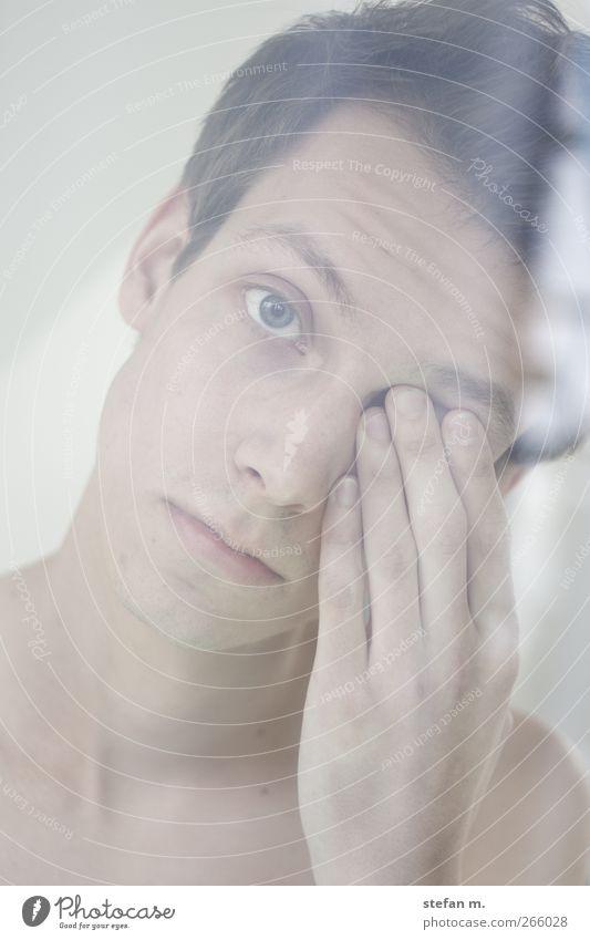 eins Mensch Jugendliche schön ruhig Gesicht Erwachsene Ferne Liebe Auge kalt Gefühle Freiheit Traurigkeit träumen Stimmung warten