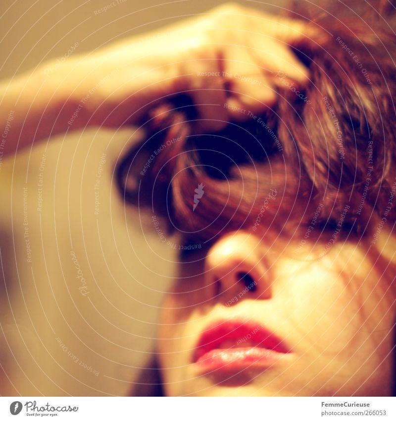 Sensuality II. Mensch Frau Jugendliche Hand rot Erwachsene Liebe feminin Junge Frau offen 18-30 Jahre Mund elegant Nase Lippen festhalten