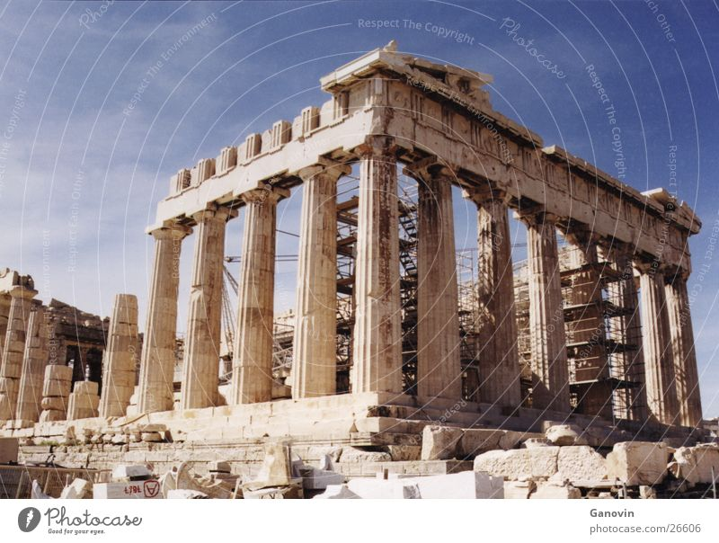 Akropolis Gebäude Europa Vergangenheit Griechenland antik Römerberg Athen