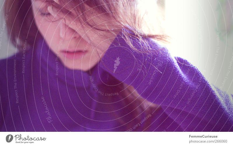 Sad mood. feminin Junge Frau Jugendliche Erwachsene Kopf Hand 1 Mensch 18-30 Jahre Desaster Enttäuschung Trauer Traurigkeit Denken Krankheit schlecht