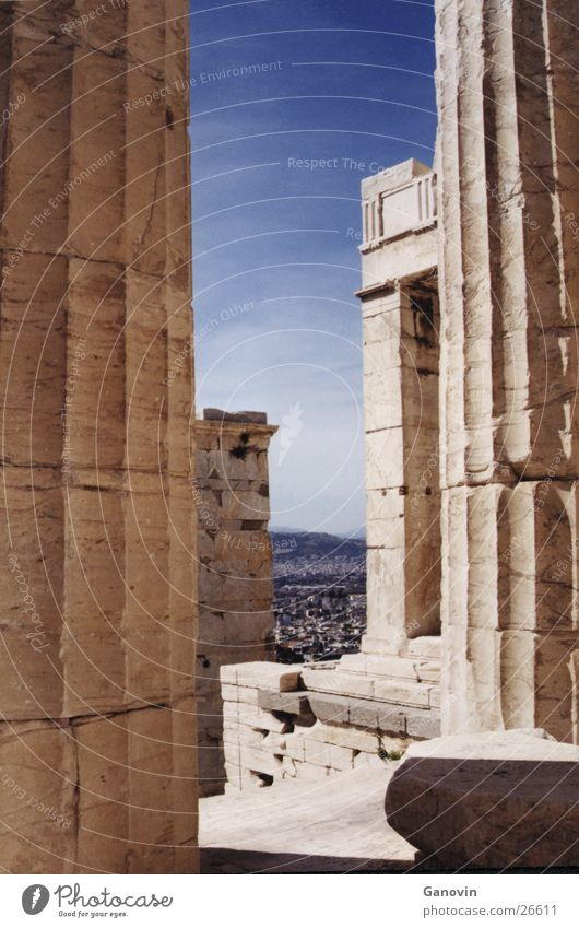 Athen Gebäude Landschaft Perspektive antik