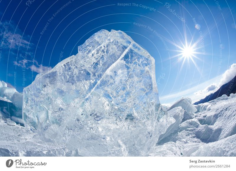 Winter Baikal Ferien & Urlaub & Reisen Ausflug Abenteuer Sonne Schnee Umwelt Natur Landschaft Himmel Wolken Klima See hell natürlich wild blau weiß Perspektive