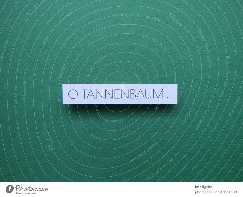 O TANNENBAUM ... grün weiß Freude Gefühle Stimmung Zufriedenheit Schriftzeichen Kommunizieren Schilder & Markierungen Fröhlichkeit Neugier Tradition