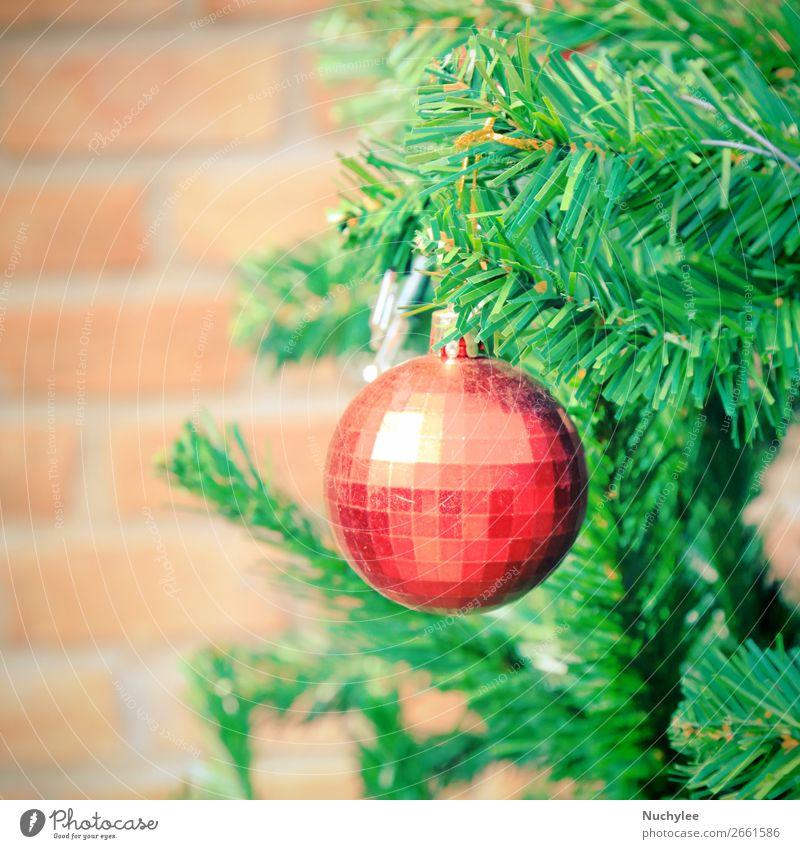 Nahaufnahme Christbaumschmuck, Retro-Filtereffekt Design Winter Dekoration & Verzierung Feste & Feiern Weihnachten & Advent Kultur Pflanze Baum Platz Spielzeug