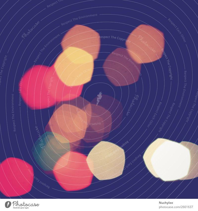 Bunter Fünfeck Bokeh Light Vintage Hintergrund elegant Design Dekoration & Verzierung Tapete Auge Straße glänzend hell retro rot Farbe Unschärfe verschwommen