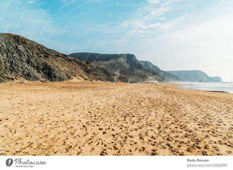 Sommer Ozean Strand und Berge Landschaft in Portugal Berge u. Gebirge Meer Himmel Küste Natur Ferien & Urlaub & Reisen