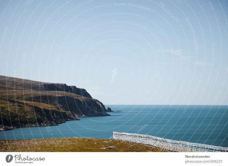 Durchstarten Wasser Ferien & Urlaub & Reisen Meer Sommer Einsamkeit ruhig Ferne Landschaft Berge u. Gebirge Freiheit Küste Felsen Urelemente einzigartig