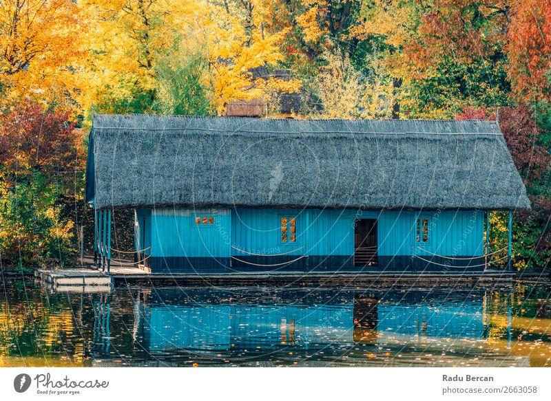 Ferien & Urlaub & Reisen Natur blau Farbe schön grün Wasser Landschaft rot Baum Haus Blatt Wald Herbst gelb Umwelt