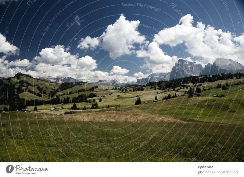 Seiser Alm Himmel Natur Ferien & Urlaub & Reisen Sommer ruhig Ferne Erholung Umwelt Landschaft Wiese Leben Berge u. Gebirge Freiheit träumen Horizont Gesundheit
