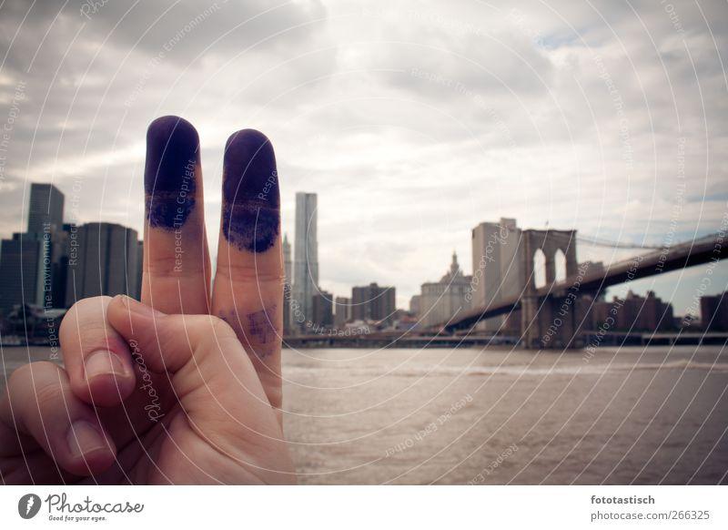 Finger Towers New York City Stars and Stripes Amerika Stadt Skyline Hochhaus Brücke Architektur Sehenswürdigkeit Wahrzeichen Denkmal World Trade Center Zeichen