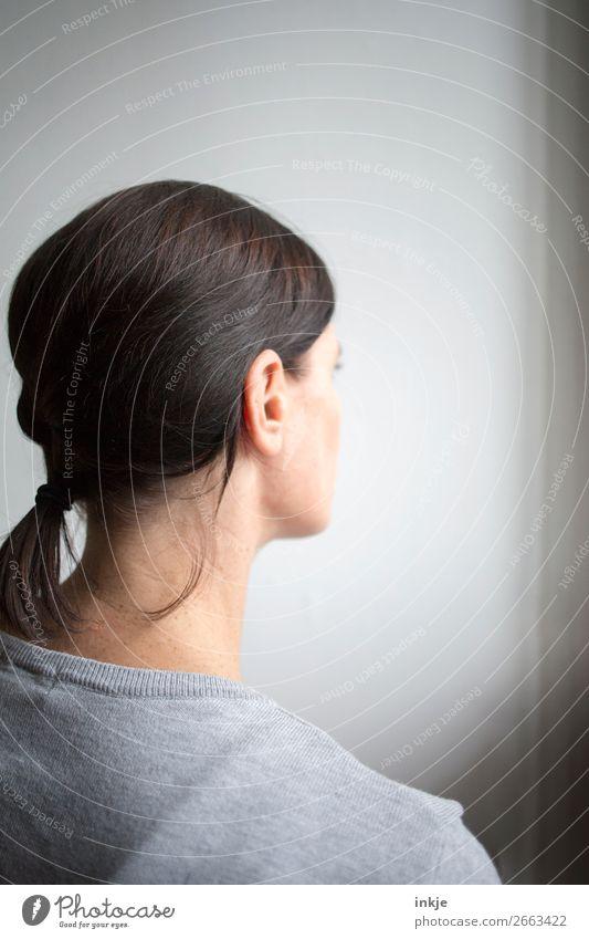 Zopf Frau Junge Frau schön Erwachsene Stil Haare & Frisuren Kopf authentisch brünett 1 Mensch 30-45 Jahre geflochten Haarpflege