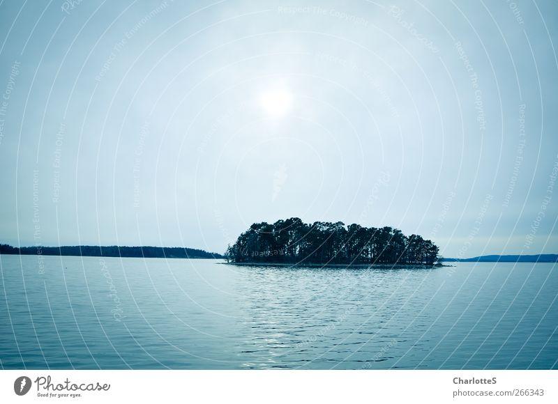 Havet. Himmel blau Wasser Sonne Meer Wolken ruhig Wald kalt grau Küste Luft Horizont Wellen Wind Nebel
