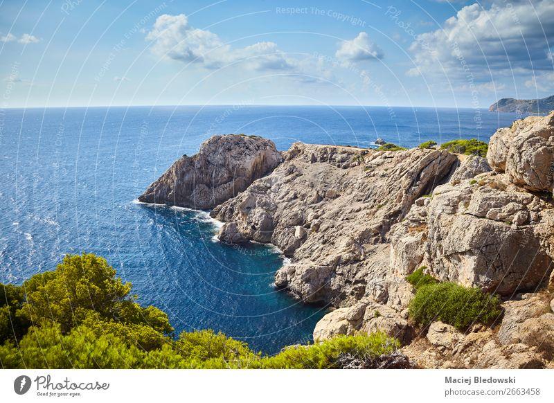 Malerische Landschaft von Capdepera, Mallorca. Ferien & Urlaub & Reisen Tourismus Ausflug Abenteuer Ferne Freiheit Sommer Sommerurlaub Meer Insel