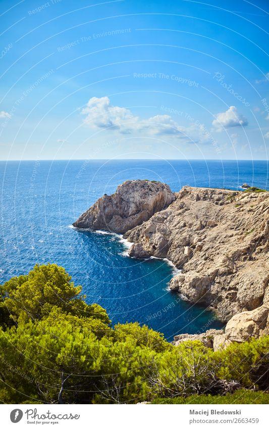 Himmel Ferien & Urlaub & Reisen Natur Sommer blau Landschaft Sonne Meer Ferne Berge u. Gebirge Küste Tourismus Freiheit Felsen Ausflug wandern