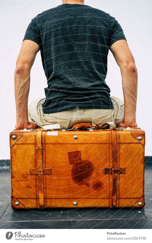 #AS# Ich packe meinen Koffer ... Reisefotografie fliegen Güterverkehr & Logistik altehrwürdig Nostalgie Trennung Abschied antik Leder Behälter u. Gefäße reisend