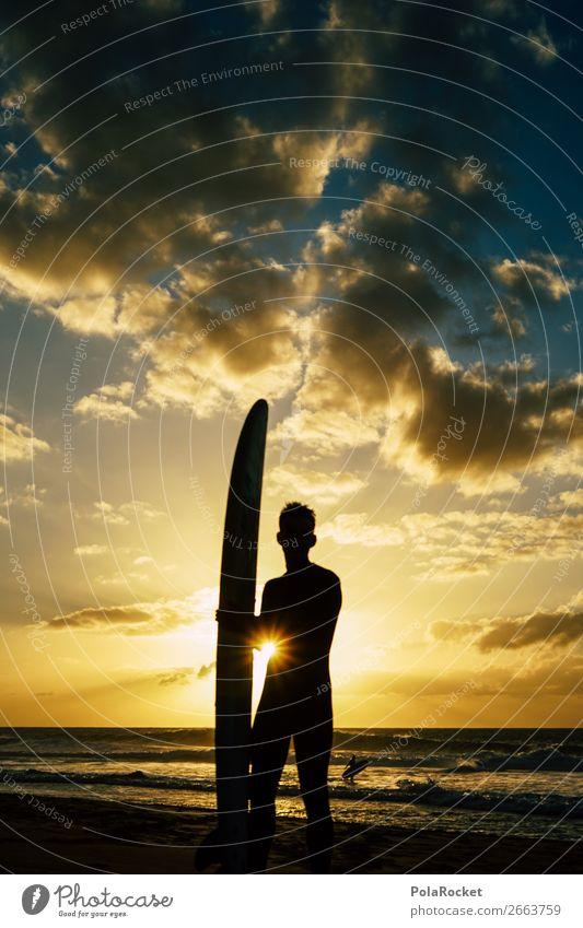 #AS# SurferBoy Mensch Himmel Ferien & Urlaub & Reisen Meer Sport maskulin ästhetisch sportlich Surfen Urlaubsfoto Surfbrett Urlaubsstimmung Extremsport