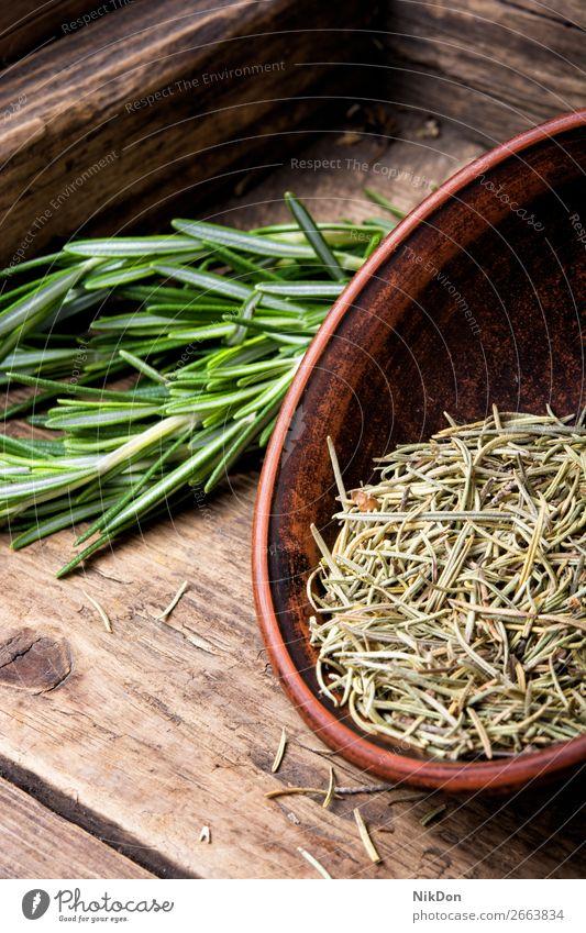 Frischer Rosmarinstrauß Pflanze Kraut grün frisch Lebensmittel Kräuterbuch Gesundheit Medizin Gewürz roh Ast Blatt Haufen Aroma aromatisch Zweig duftig