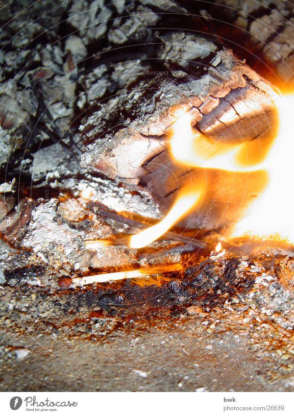 Feuer Streichholz Brand entzünden Makroaufnahme Brandasche