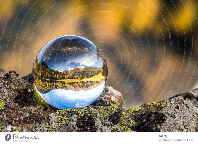 Jetzt noch einmal eine Kugel voller Herbst Ferien & Urlaub & Reisen Tourismus Ausflug Berge u. Gebirge Natur Landschaft Schönes Wetter See Duisitzkarsee