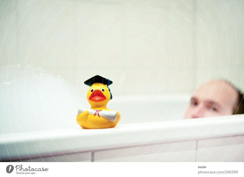 Badefreunde Freude Schwimmen & Baden Freizeit & Hobby Spielen Badewanne Studium Student maskulin Mann Erwachsene Kopf Gesicht 1 Mensch 18-30 Jahre Jugendliche
