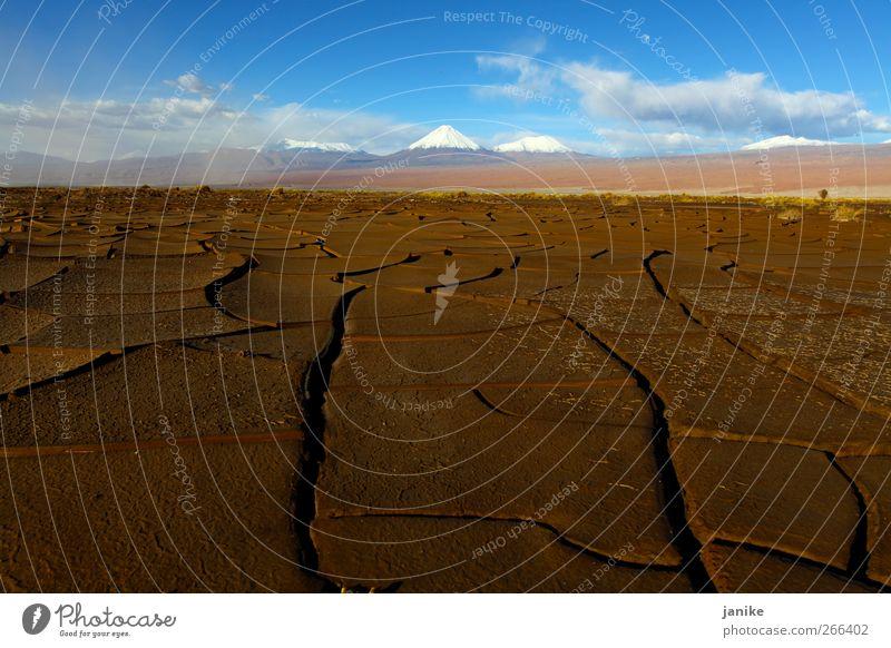 Dessert and Snow Himmel Sommer Winter Wolken Ferne Landschaft Schnee Berge u. Gebirge Horizont Erde Urelemente Wüste Schönes Wetter Chile Südamerika