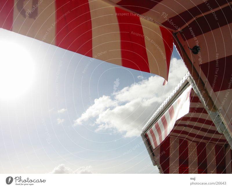 Strandkkorb Himmel Sonne Ferien & Urlaub & Reisen Wolken Europa Nordsee Strandkorb