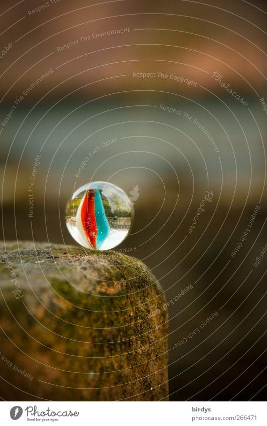 Zur schönen Aussicht `98 Stil Kindheit glänzend außergewöhnlich ästhetisch leuchten Neugier rein Risiko Lebensfreude positiv Am Rand Murmel Steinmauer Glaskugel