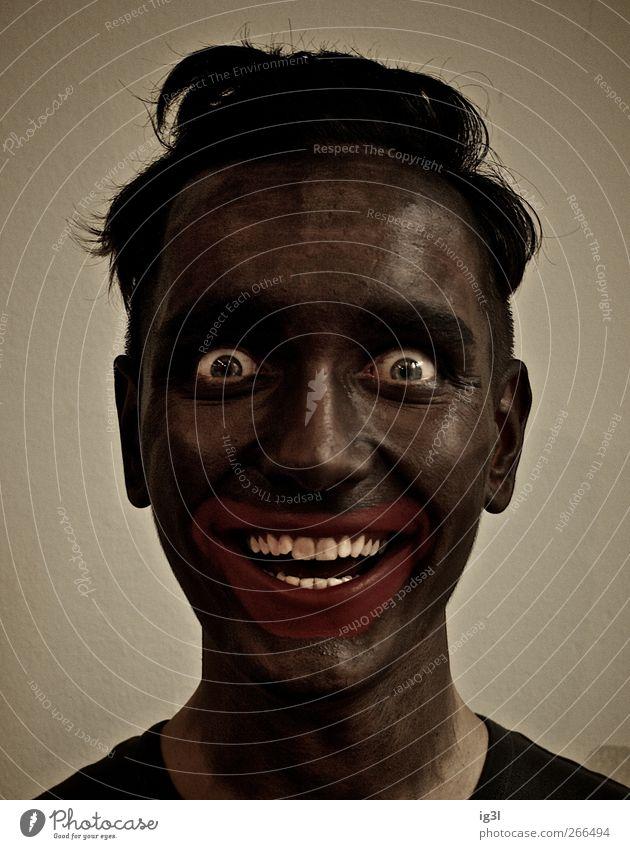 Sonnenkind Lifestyle Reichtum schön Körperpflege Schminke maskulin Junger Mann Jugendliche Erwachsene 1 Mensch 18-30 Jahre Fröhlichkeit Zufriedenheit