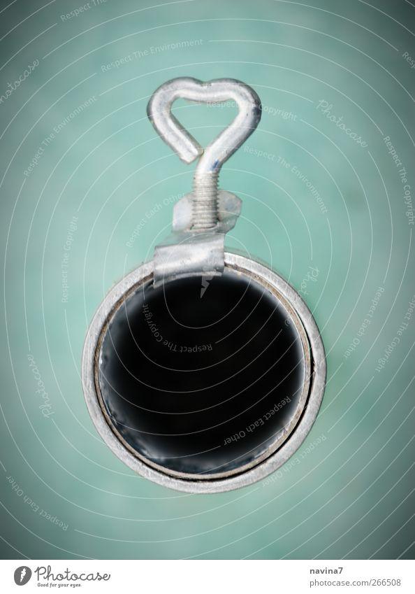 herzliche Öffnungsmöglichkeit Metall Zeichen Herz Kreativität Liebe Symmetrie herzförmig Loch schließen aufmachen drehen Farbfoto Außenaufnahme Menschenleer