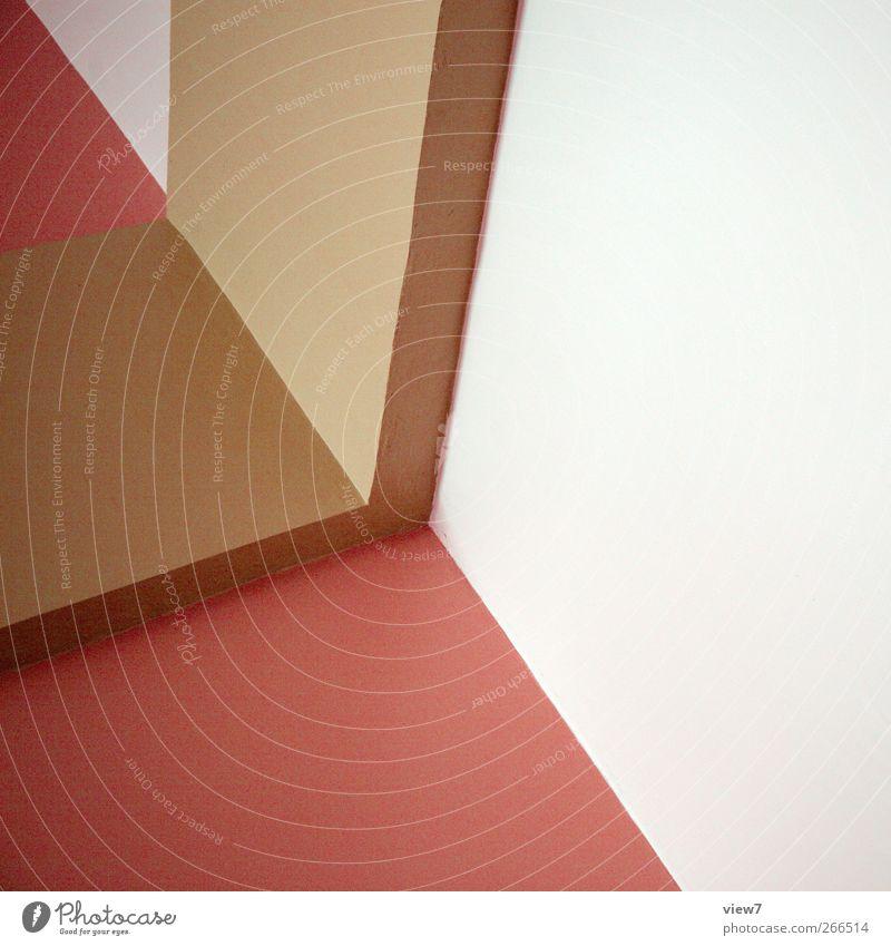 bricks & corner rot Farbe Haus Ferne Wand Stein Gebäude Mauer Linie Innenarchitektur Fassade Ordnung Beton Beginn modern ästhetisch