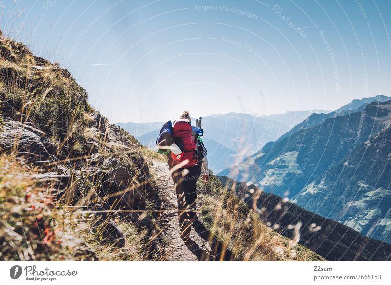 Aufstieg zum Hirzer in Südtirol | E5 Alpenüberquerung Lifestyle Freizeit & Hobby Ferien & Urlaub & Reisen Berge u. Gebirge wandern Klettern Bergsteigen