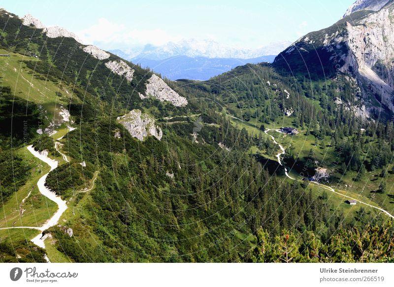 Rundwanderung Ferien & Urlaub & Reisen Tourismus Abenteuer Sommer Berge u. Gebirge Umwelt Natur Landschaft Pflanze Himmel Schönes Wetter Baum Gras Sträucher
