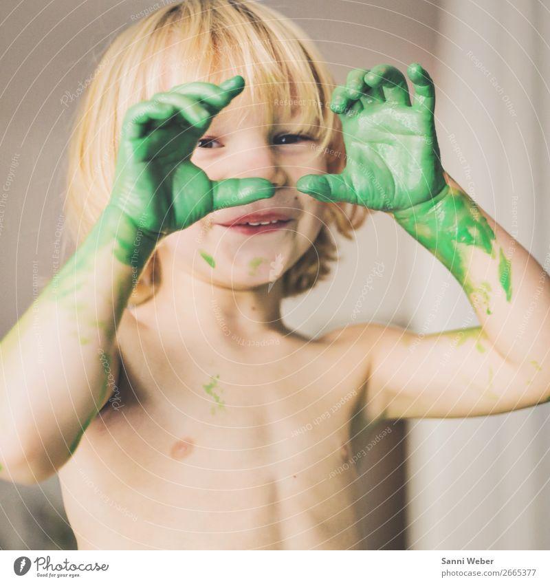 childrens hand Mensch maskulin Kind Junge Kindheit Leben Körper Haut Kopf Gesicht Auge Mund Lippen Zähne Brust Arme Hand Finger 1 3-8 Jahre Maler Stimmung