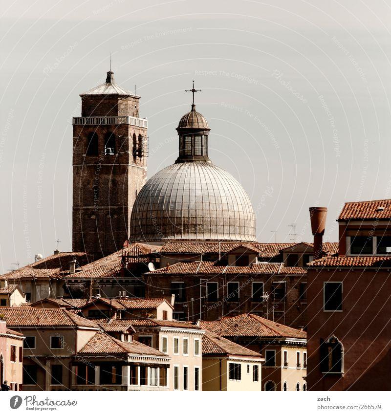 Venedig Stadt Haus Fenster Religion & Glaube braun Kirche Häusliches Leben Turm Italien Dorf Skyline Kreuz Dom Sehenswürdigkeit Venedig Altstadt